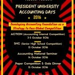President University Accounting Days (PUAD) 2016