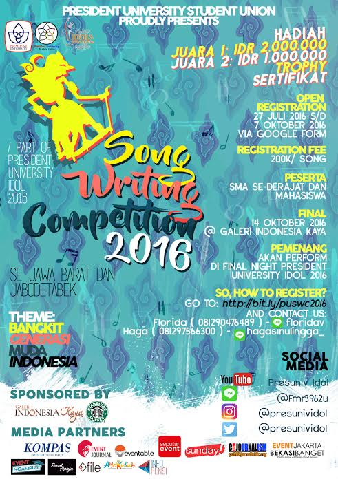 SONG WRITING COMPETITION 2016
