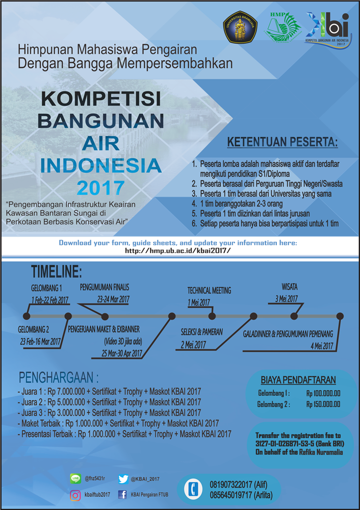 Kompetisi Bangunan Air Indonesia 2017