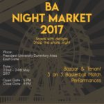 BA NIGHT MARKET 2017 – President University