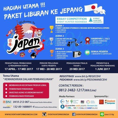 essay-competition-event-hunter-indonesia-berhadiah-liburan-ke-jepang