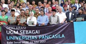 Deklarasi Peneguhan Pancasila UGM Dihadiri Tokoh Penting Dan Sivitas Akademika