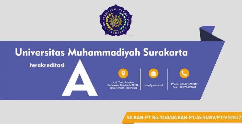 Selamat, Universitas Muhammadiyah Surakarta Raih Akreditasi A BAN PT