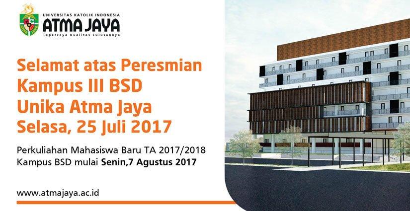 UKI Atma Jaya Resmikan Kampus III Di BSD City