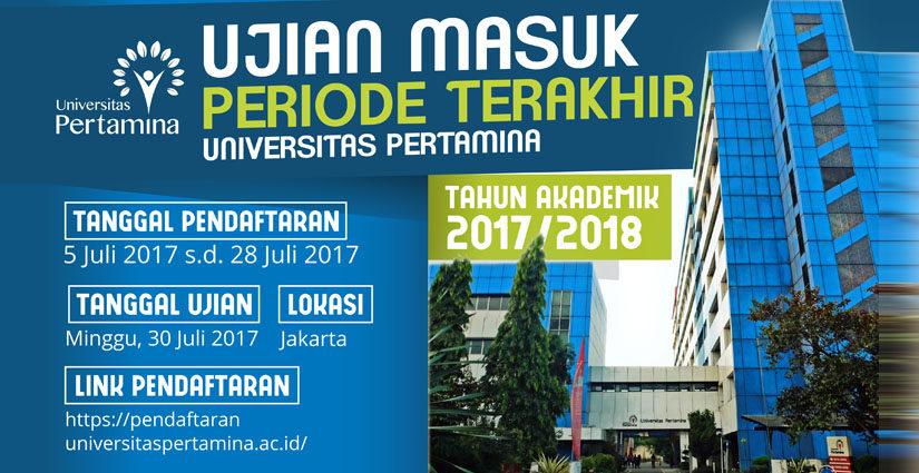 Pendaftaran Ujian Masuk Periode Terakhir Universitas Pertamina Dibuka!