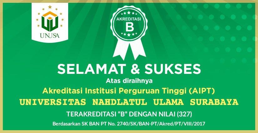 Akhirnya, Unusa Raih Akreditasi Institusi B!