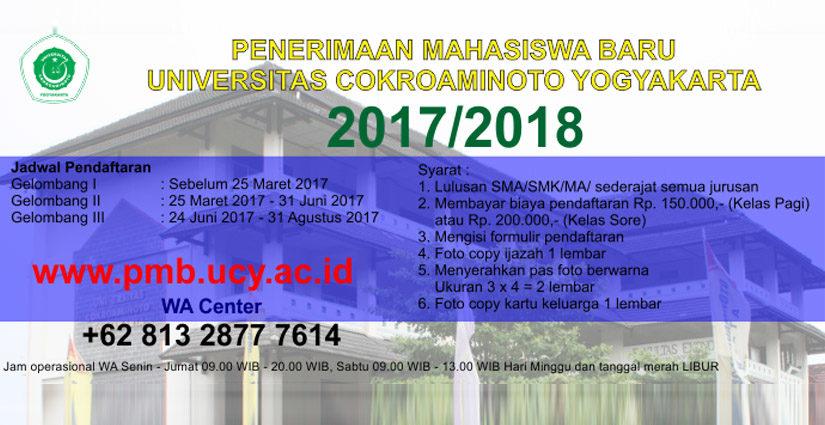 Universitas Cokroaminoto Yogyakarta Masih Buka Pendaftaran, Ini Syarat Masuknya!