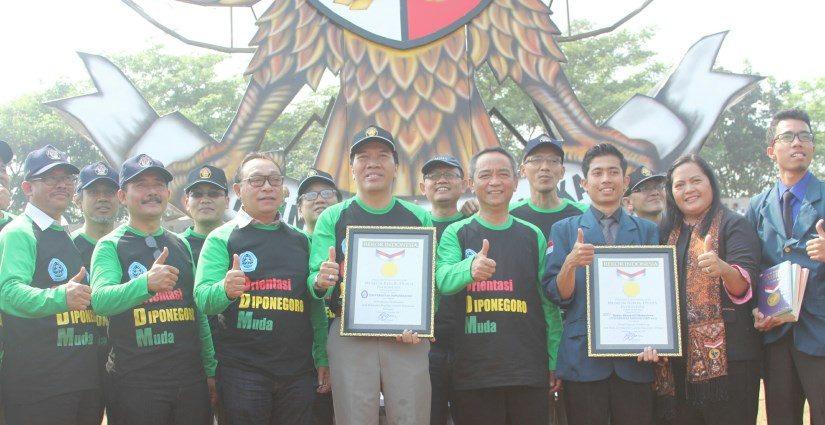 Replika Garuda Pancasila Terbesar ODM Undip Berhasil Pecahkan Rekor MURI