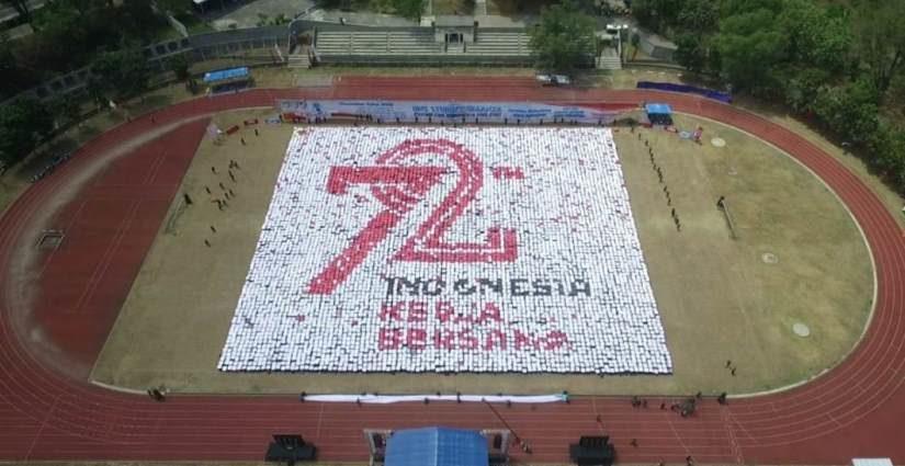 Keren, PKKMB UNS Bentuk 11 Formasi Bertemakan Pariwisata Dan Persatuan Indonesia
