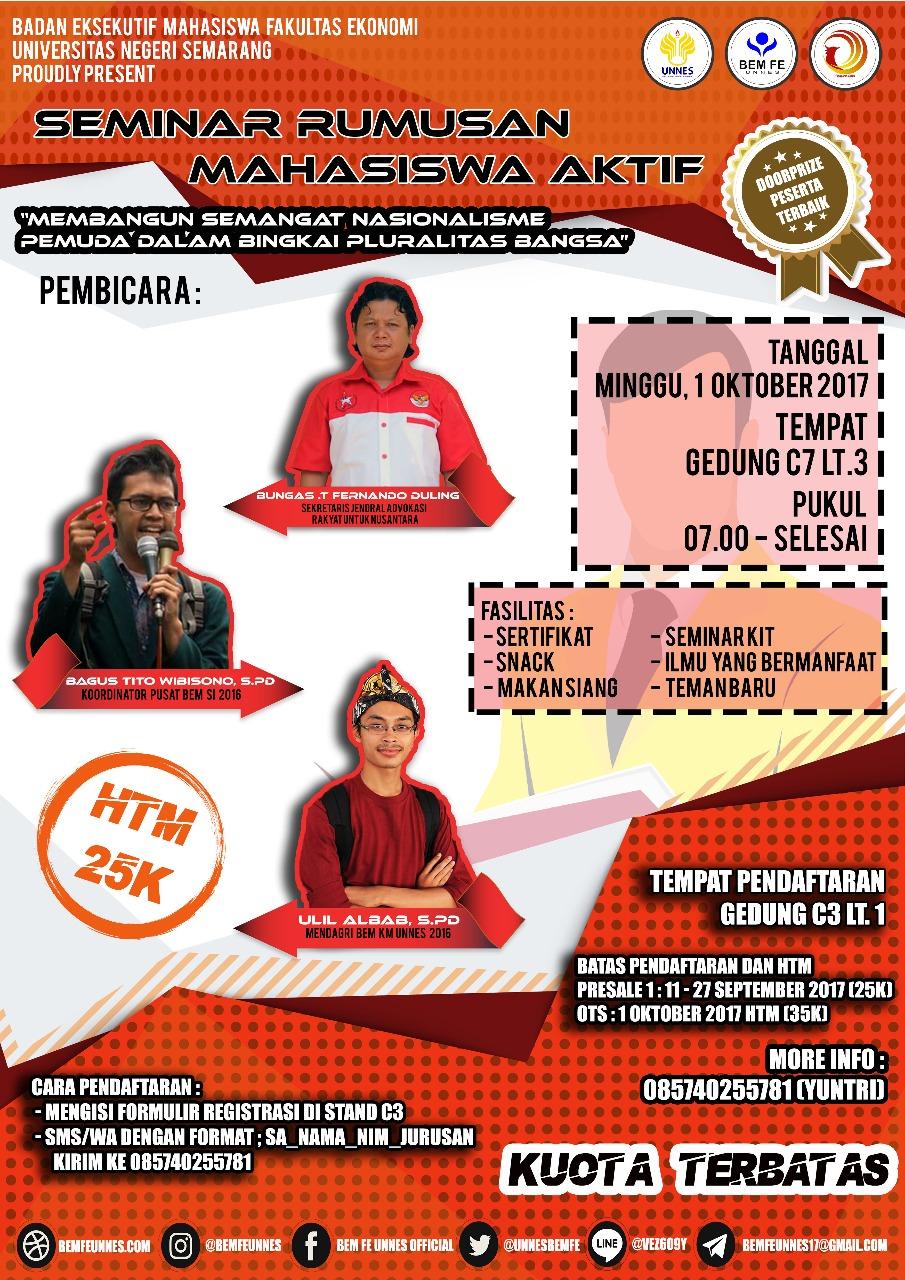 seminar-rumusan-mahasiswa-aktif-bem-fe-unnes-2017