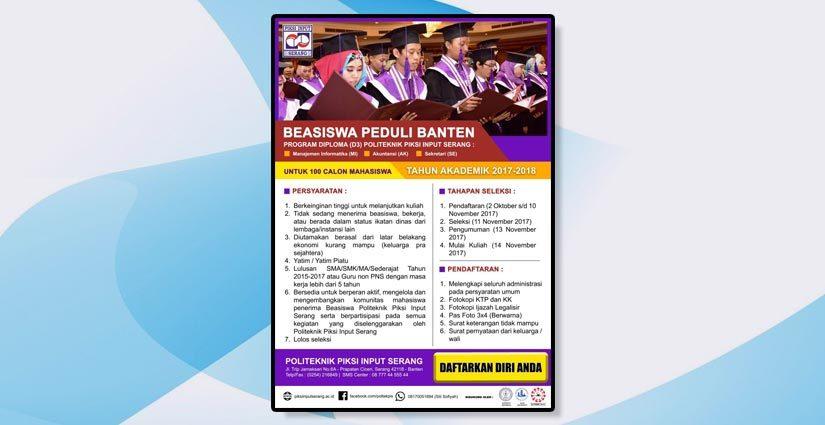 Piksi Input Serang Cari 100 Penerima Beasiswa Peduli Banten