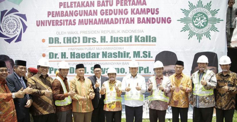 Pembangunan Gedung Baru Universitas Muhammadiyah Bandung Dimulai
