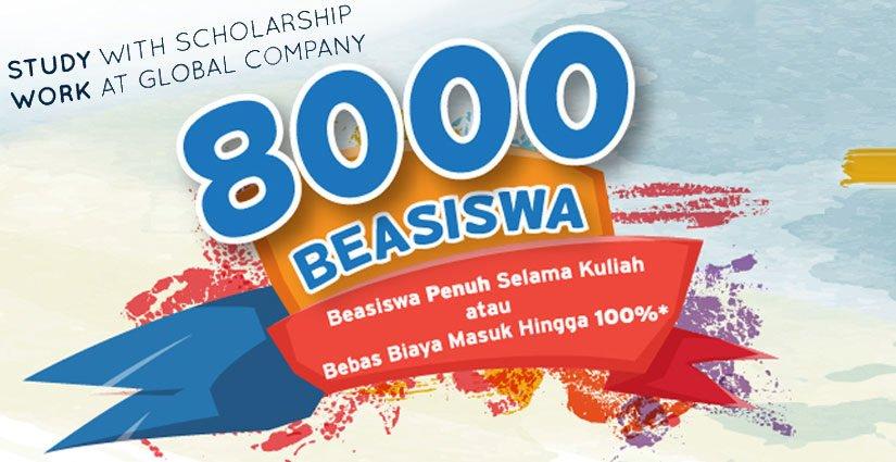 BINUS 8000 Beasiswa Bagi Mahasiswa Baru T.A 2018/2019