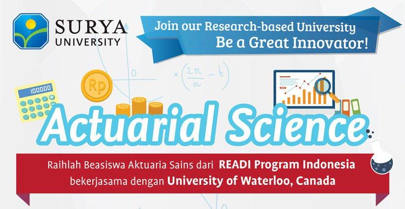 Beasiswa READI Surya University Bagi Mahasiswa S1 Ilmu Aktuaria
