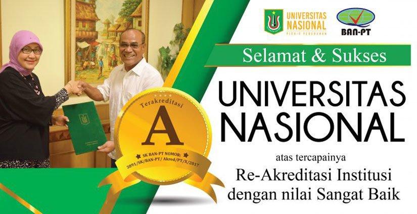 Universitas Nasional Raih Akreditasi Institusi Memuaskan!