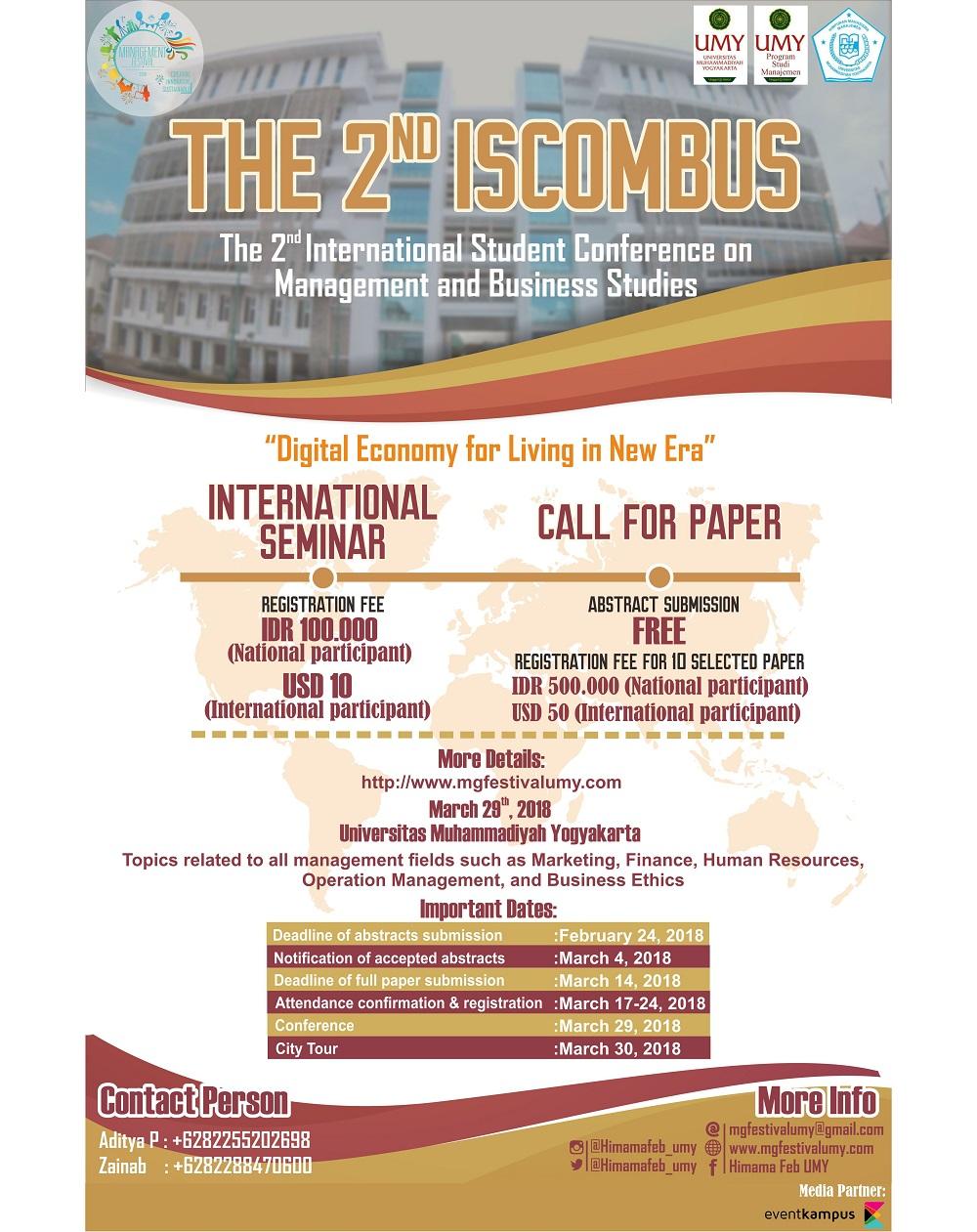 2nd-international-student-conference-management-business-studies-iscombus-2018