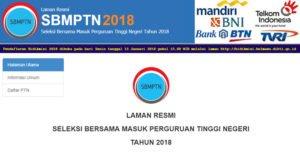 Jadwal Penting Pelaksanaan SBMPTN 2018!