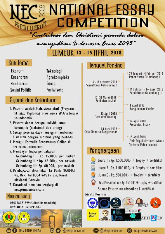 national-essay-competition-nec-2018-universitas-mataram