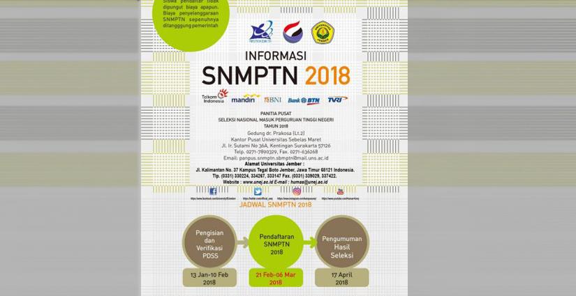UNEJ Terima 2.317 Mahasiswa Baru Jalur SNMPTN 2018