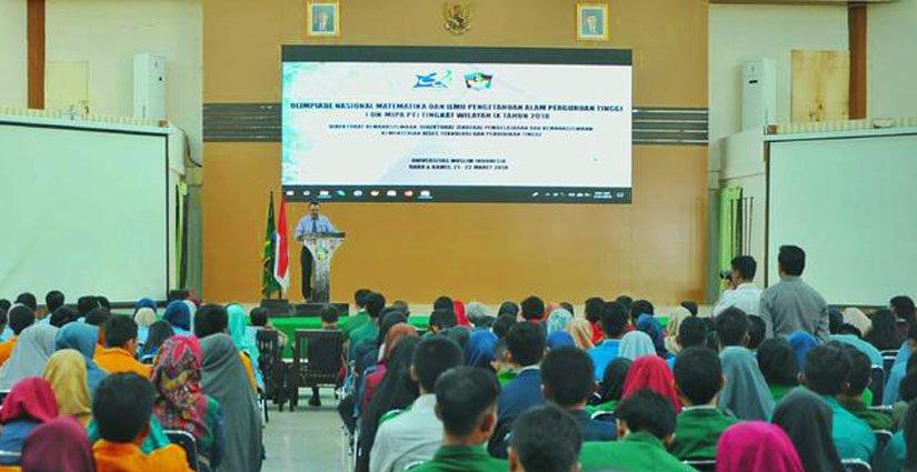 UMI Makassar Tuan Rumah Olimpiade Nasional MIPA Tingkat Wilayah IV