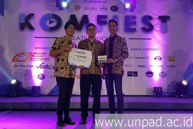 """Tiga Mahasiswa Unpad Menoreh Kemenangan dalam """"Creative Program Production"""" Nasional di Surabaya"""
