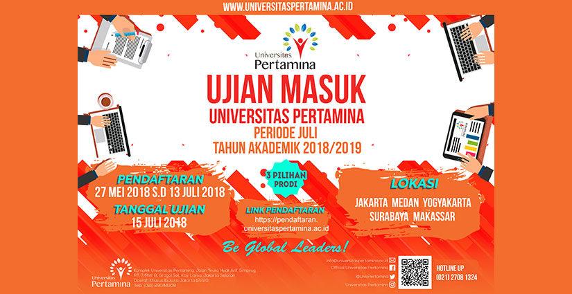 Pendaftaran UM Universitas Pertamina Periode Juli Dibuka!