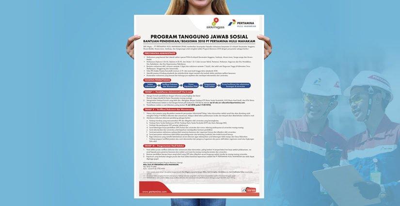 Beasiswa 2018 PT Pertamina Hulu Mahakam Bagi Mahasiswa Aktif