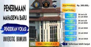 Pendaftaran SM Vokasi UB Dibuka Hingga 22 Juli 2018