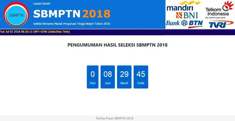 Pengumuman Hasil SBMPTN 2018 Bisa Dilihat Di 12 Laman Minor Ini!