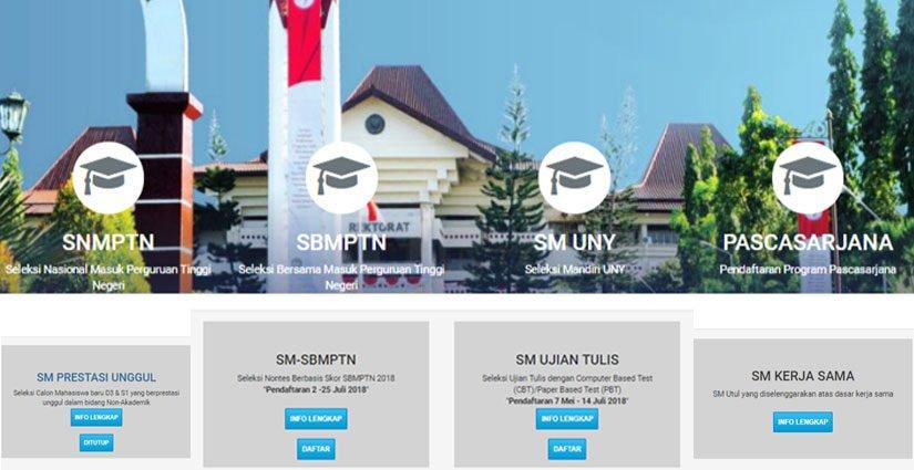 UNY Buka Jalur Seleksi Mandiri SBMPTN Dan Ujian Tulis