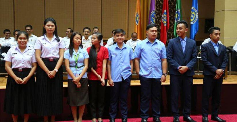 UNP Kenalkan 10 Mahasiswa Program SEA Teacher Kepada Mahasiswa Baru