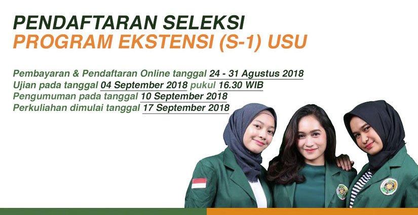Program Ekstensi S1 USU Dibuka Hingga 31 Agustus 2018