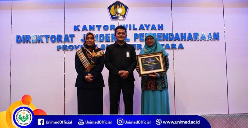 Unimed Jadi Lembaga Pengelola Anggaran Terbaik Tingkat Satker Sumatera Utara