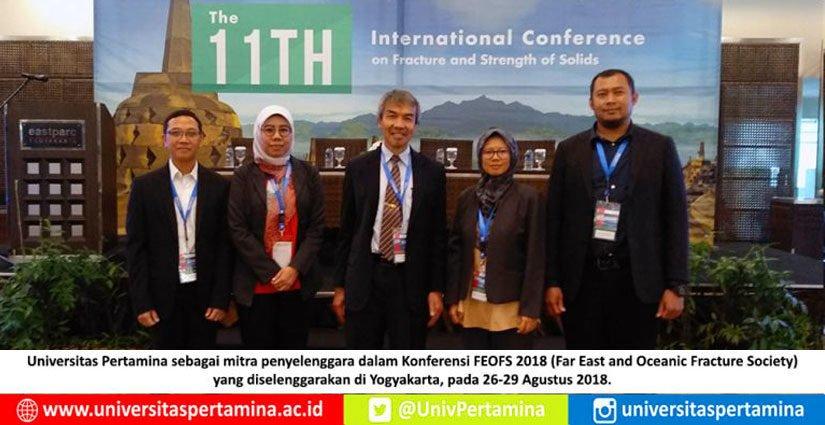 Prodi Teknik Mesin Universitas Pertamina Jadi Mitra Konferensi FEOFS 2018