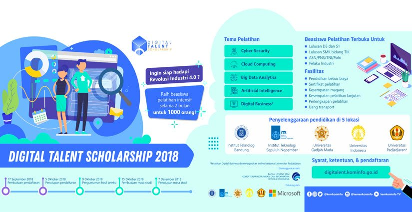 """Digital Talent Scholarship"" Cari 1000 Penerima Beasiswa"