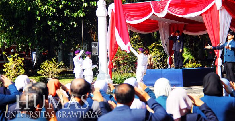 Peringati Hari Sumpah Pemuda, Universitas Brawijaya Gelar Upacara Bendera