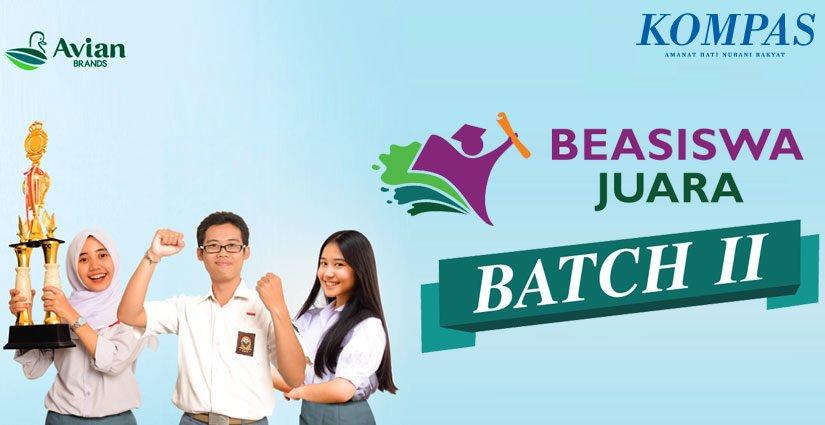 Beasiswa Juara Batch II Dibuka Hingga 22 Desember 2018!