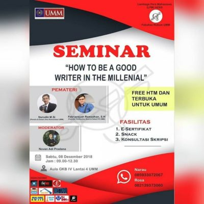 seminar-how-to-be-a-good-writer-in-the-millenial-2018
