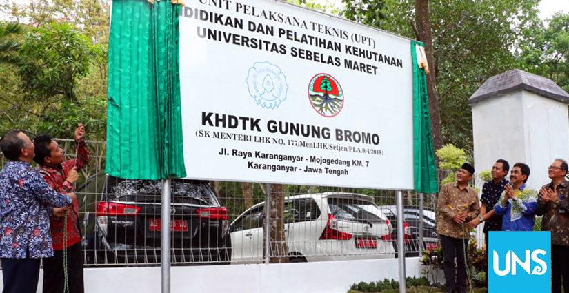 UPT Pendidikan dan Pelatihan Kehutanan KHDTK Gunung Bromo UNS Diresmikan!