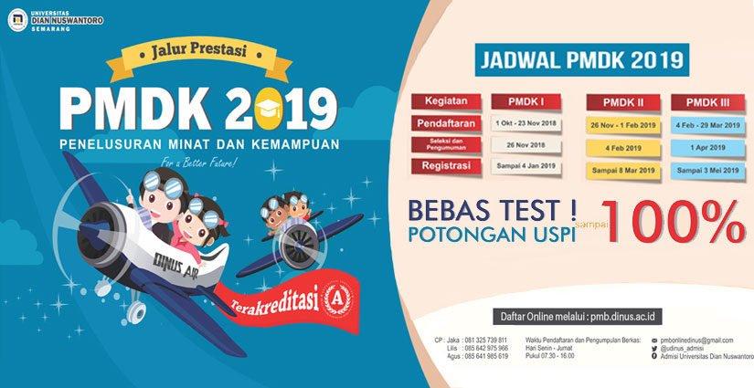 Daftar Jalur PMDK UDINUS Semarang 2019 Yuk!