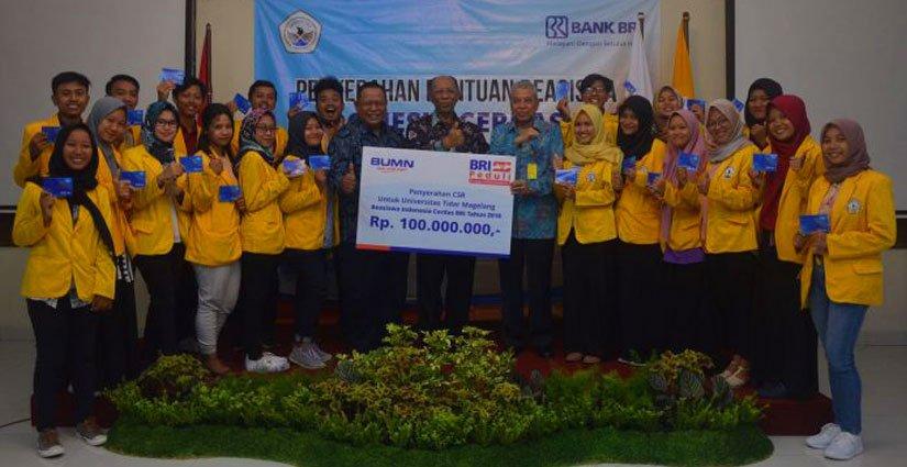 BRI Berikan Beasiswa Kepada 20 Mahasiswa Universitas Tidar Magelang