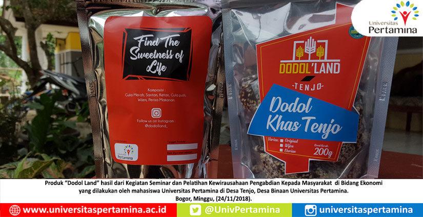 PKM-UP Bantu Kembangkan Makanan Dodol Tenjo Cipare